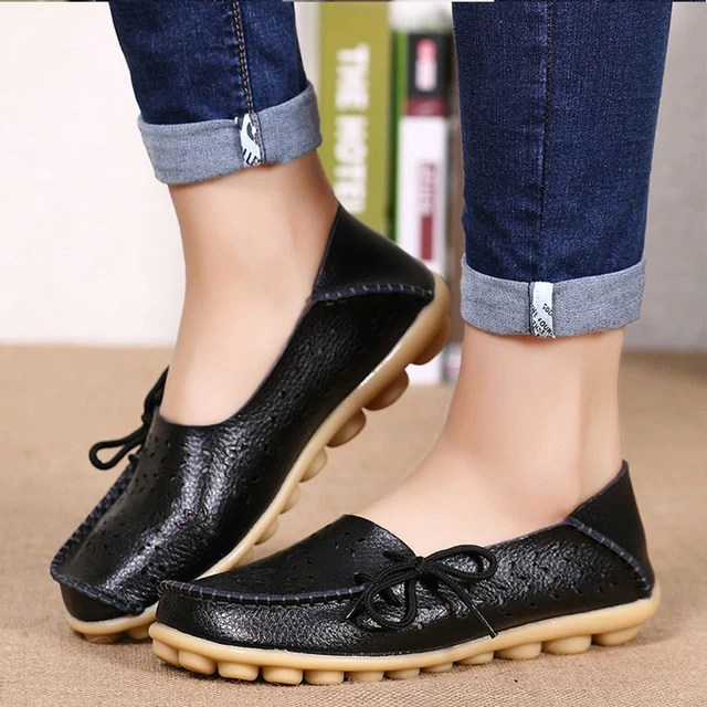 Slip On Leather Womens Shoes