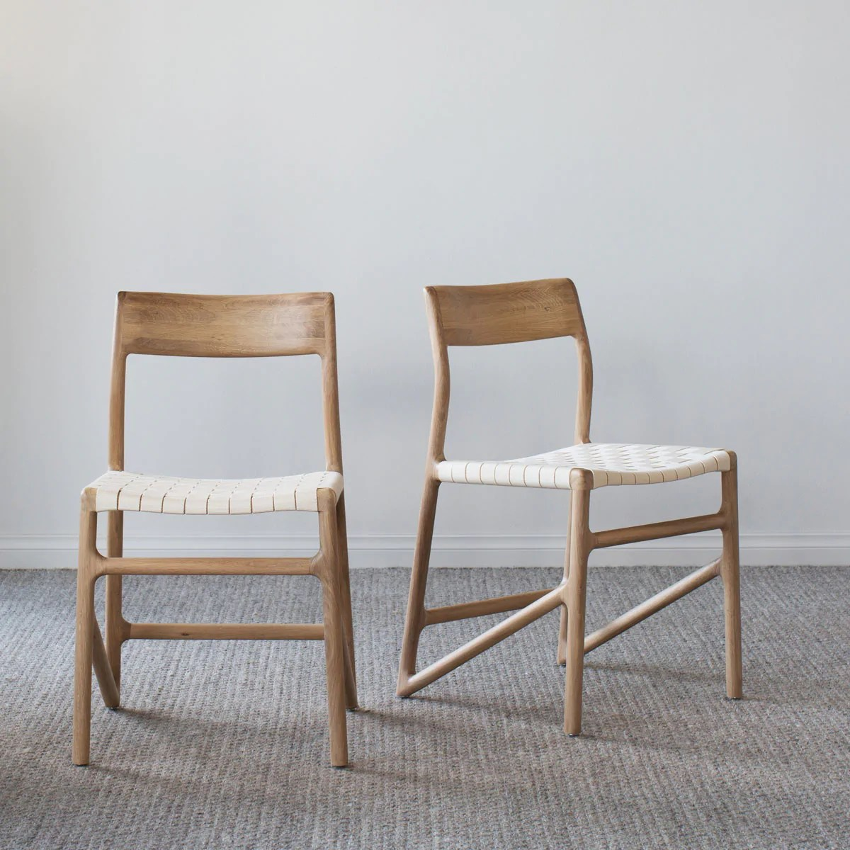 White Dining Chairs Fawn Oak Dining Chair White Cotton