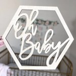 Personalised Pregnancy Announcement Plaque Coming Soon Photo Prop
