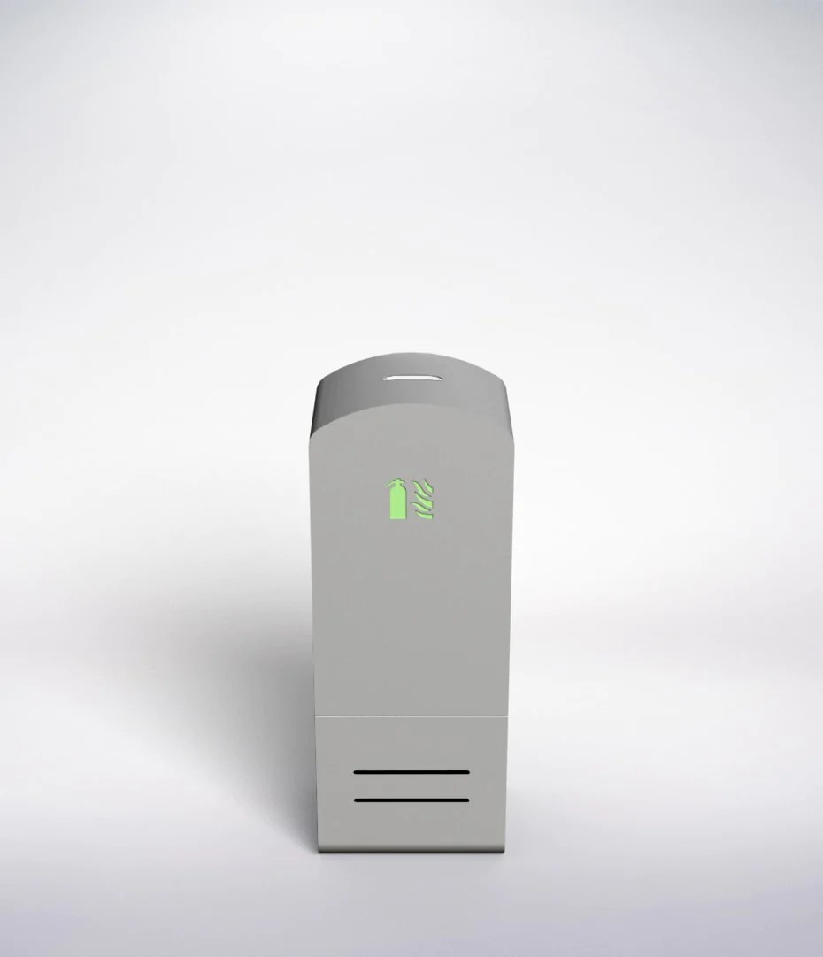 Soprano Floor Wall Aluminium Grey Cabinet Fire Extinguisher