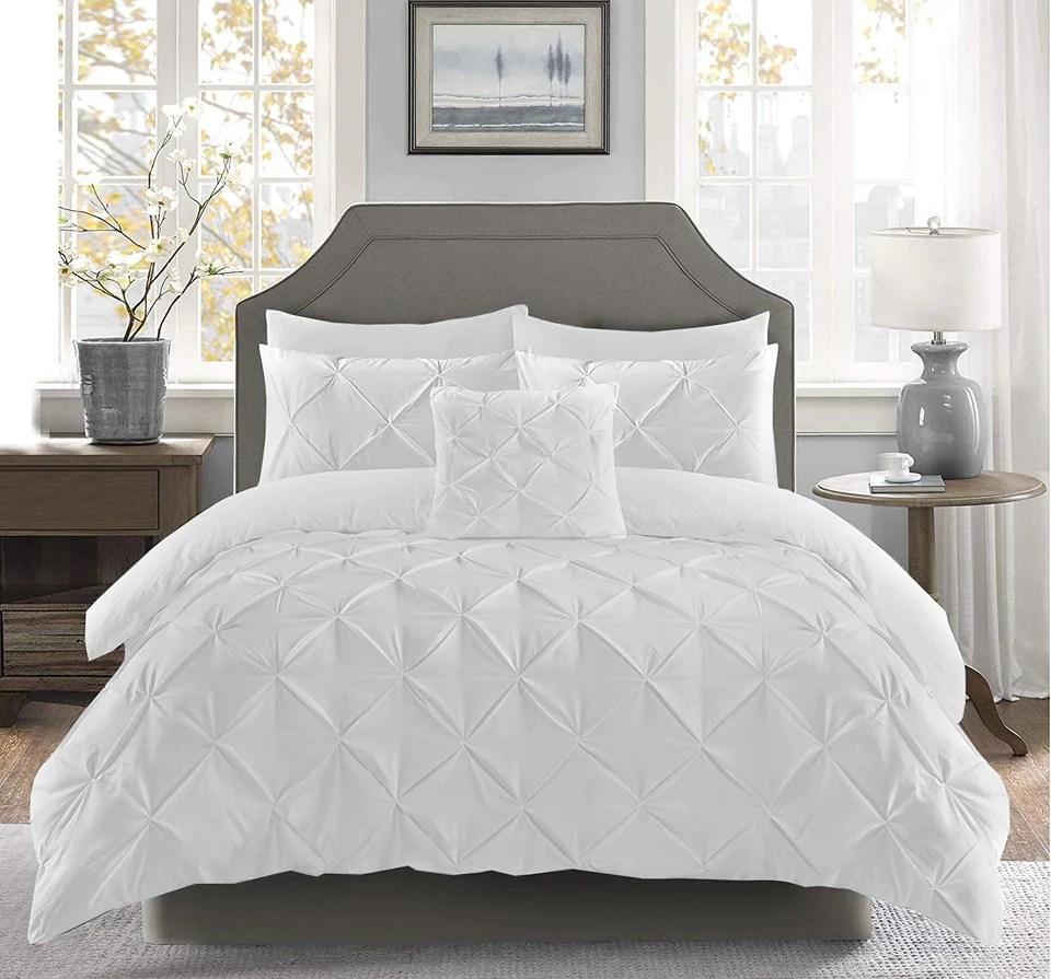 pintuck duvet set 100 cotton quilt