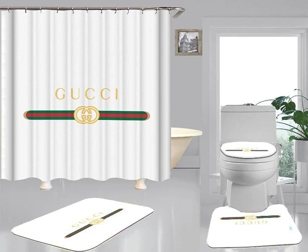 shower curtain mat set