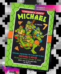 ninja turtles birthday invitation