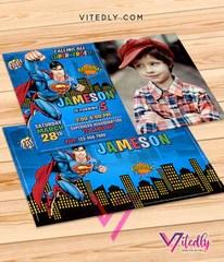 superman birthday invitations with