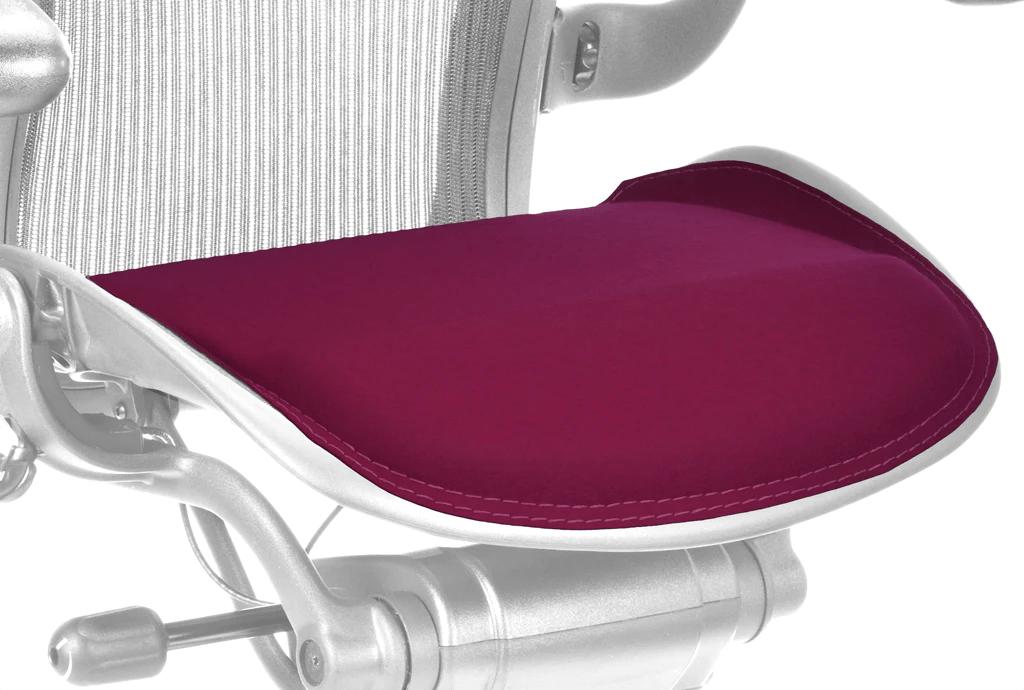 herman miller aeron chair size b reviews shoulder stand designer felt saddle seat
