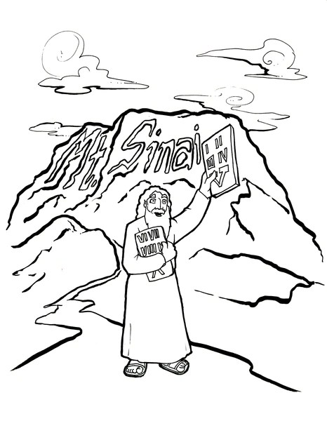 ten commandments coloring page # 5
