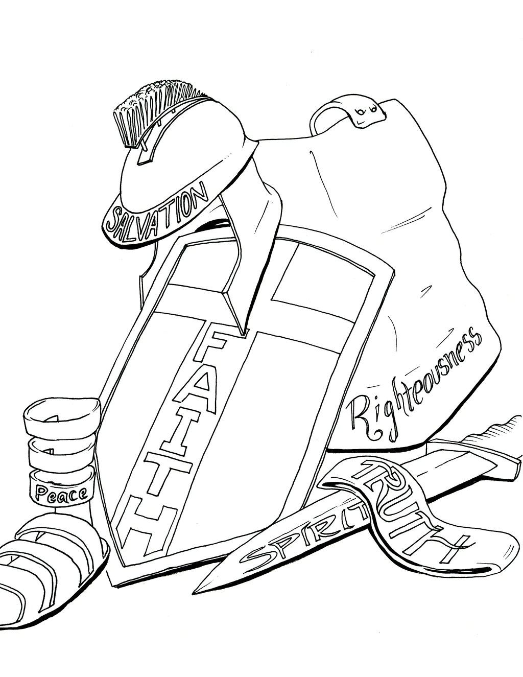 Armor Of God Coloring Sheet : armor, coloring, sheet, Armor, Coloring