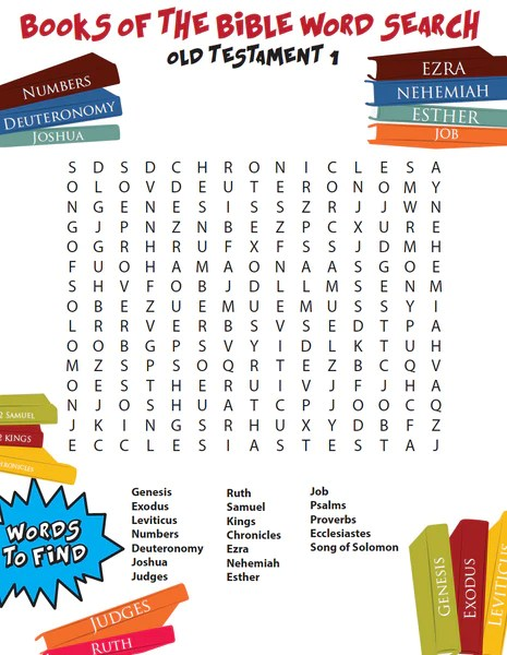 FREE Books of the Bible Word Search OT1 – Children's ...
