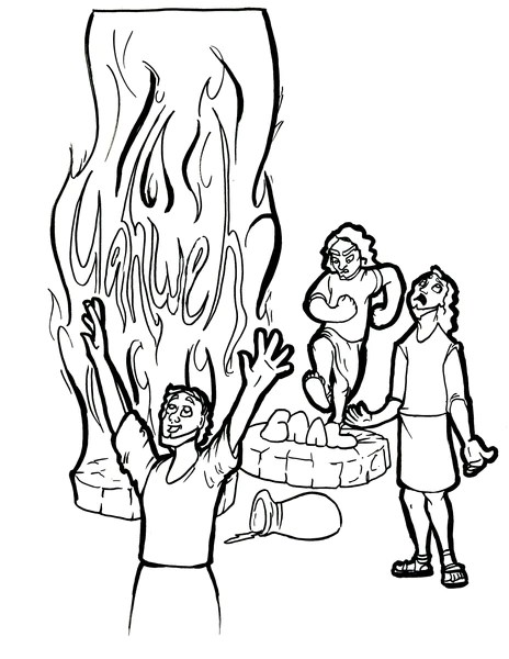 elijah and baal coloring page thestout