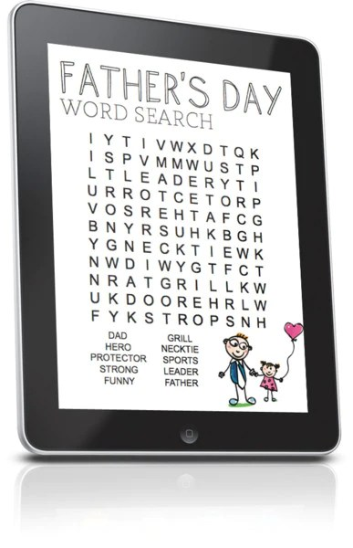 FREE Fathers Day Word Search Childrens Ministry Deals
