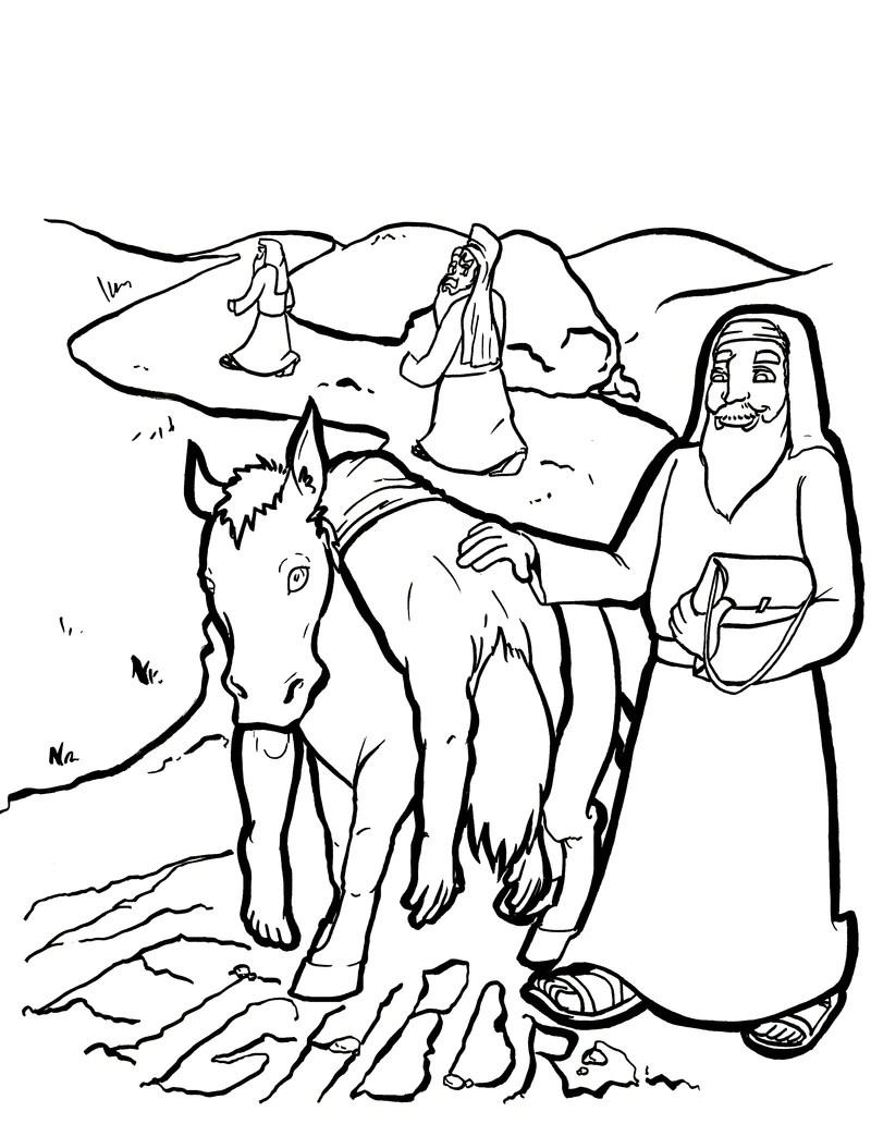 Good Samaritan #1 Coloring Page | Sermons4Kids