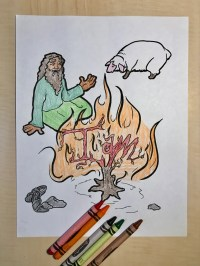 Moses and the Burning Bush Coloring Page  Children's ...