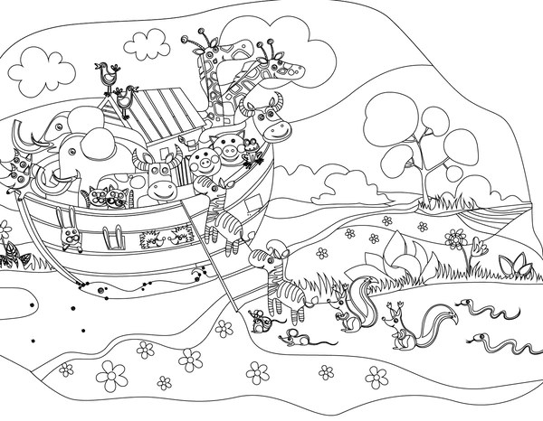 Coloring Page Flood