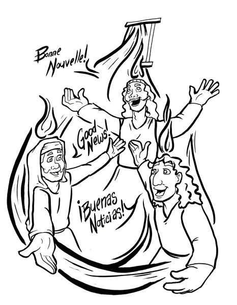 sunday school coloring pages pentecost