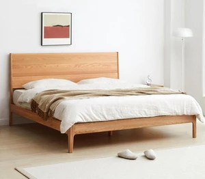 seattle natural solid oak queen size bed frame pre order required