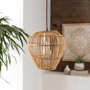 plug in rattan pendant lights stylish