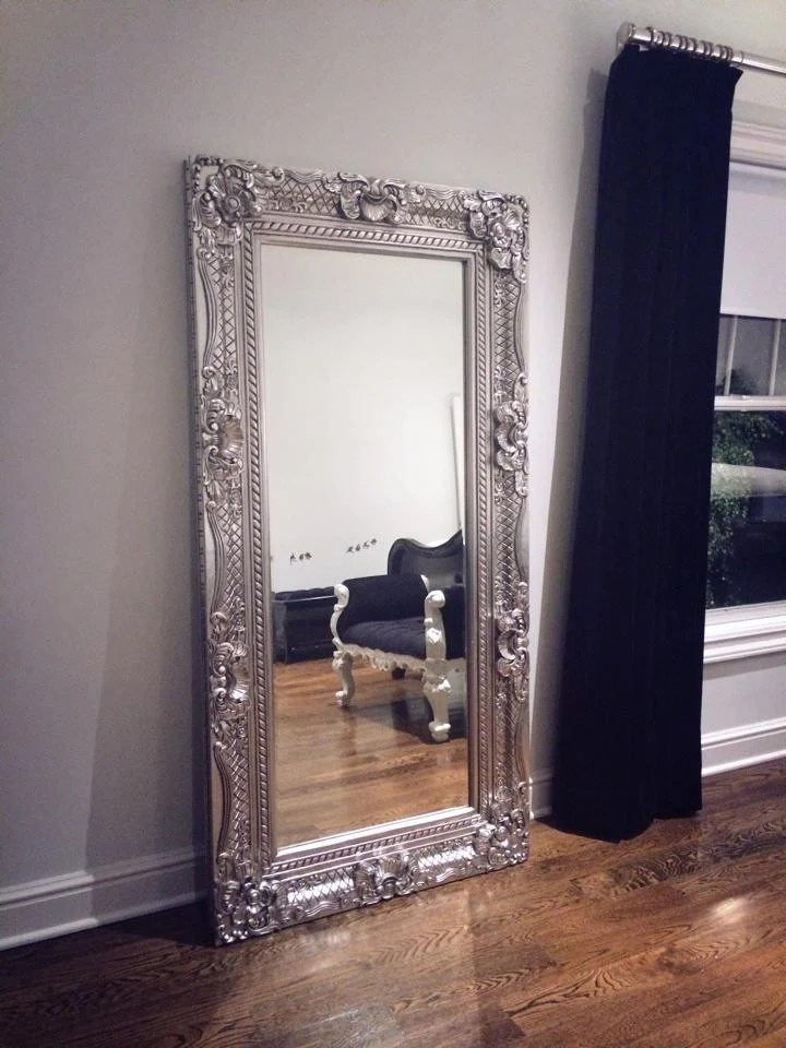 Grand Beau Wall Mirror 6ft X 3ft Silver Leaf Client