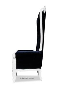 Absolom Roche Chair - White & Black Velvet  Fabulous and ...