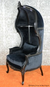 Victoire Balloon Chair - Black  Fabulous and Baroque
