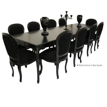 10 chair dining table set office comfortable modern baroque furniture and interior design fabulous versailles 10ft chairs black