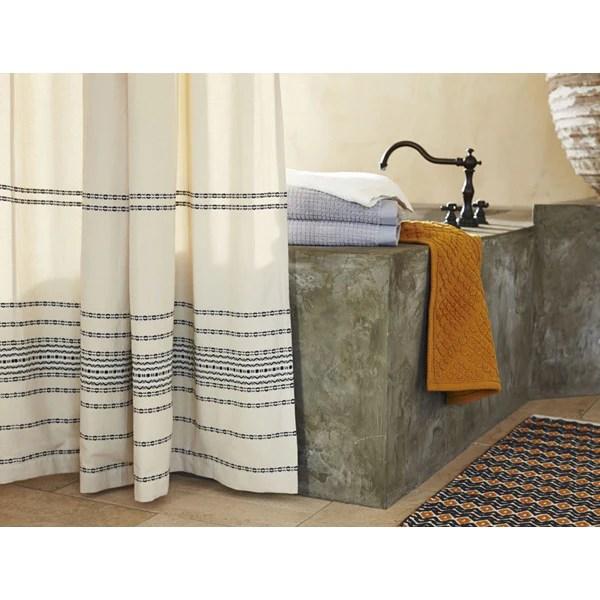 rippled organic cotton shower curtain
