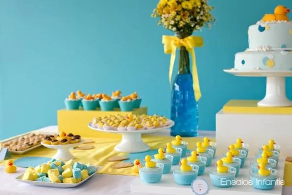 Yellow Ducks Shower Theme Baby