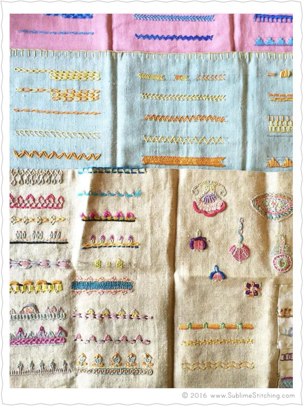 Hand Embroidery Stitches : embroidery, stitches, Embroidery, Stitches, Samplers, Sublime, Stitching®