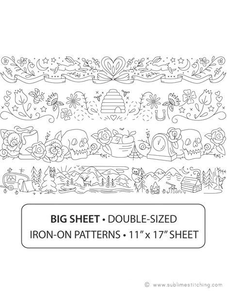 big sheet embroidery patterns