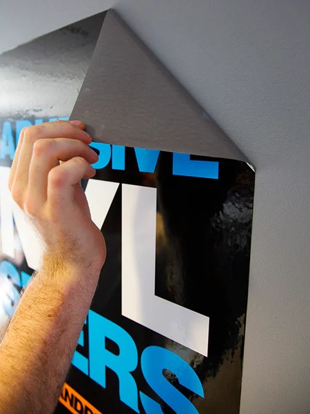 Self Adhesive Vinyl Posters  The Big Brand Print Company