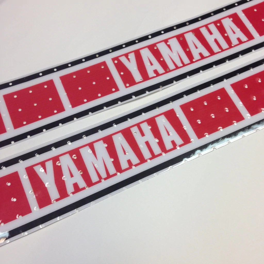 Vintage Roost  Yamaha 197780 Euro Speed Block Tank Decals