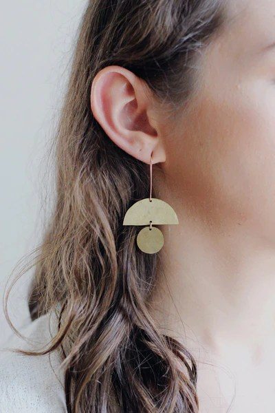 geometric totem shape earrings