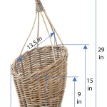 Kobo Rattan Hanging Wall Basket And Planter Brown Gray
