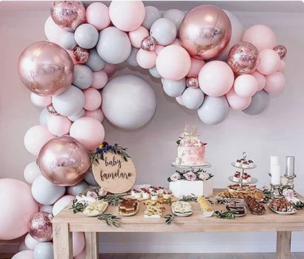 cool decor and food idea for baby shower