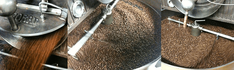 Beans in the cooling tray