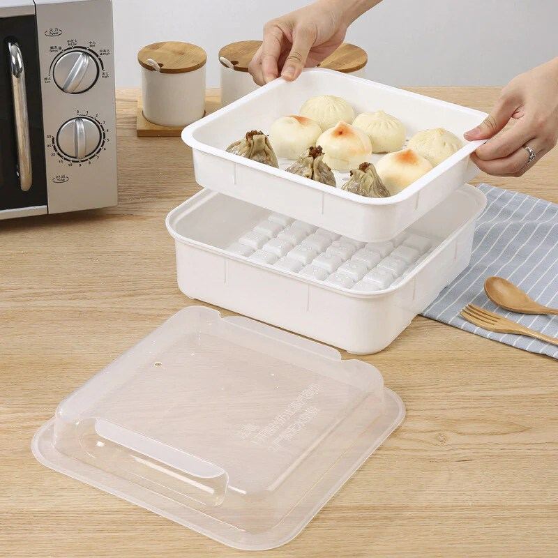 all in one square microwave steamer special utensils supplies set steamer bowl special box plastic single layer large round rice cooker