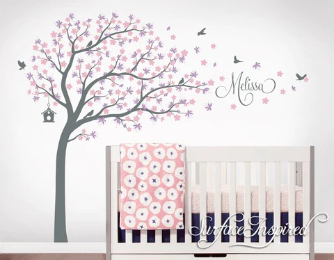 nursery wall decals stickers large cherry blossom tree with