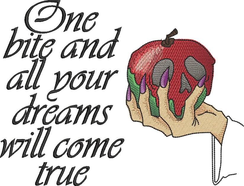 snow white poisoned apple reading