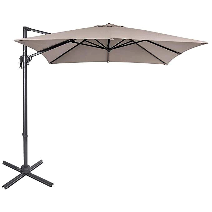 sku f6014 10 feet square offset patio umbrella