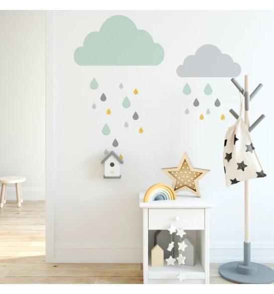 adesivi murali bambini, adesivi murali cameretta con stelline flou, wall stickers, kit pioggia di stelle. Adesivi Murali Per Pareti E Mobili Decochic