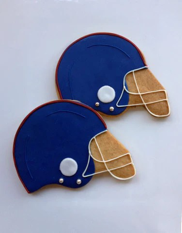 Helmet Cookies : helmet, cookies, Helmet:, Decorated, Football, Helmet, Cookies