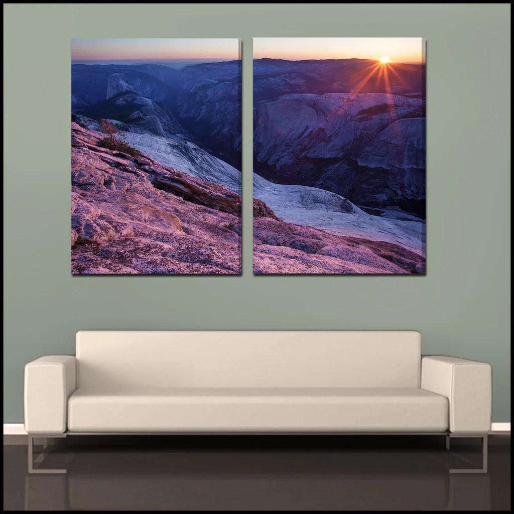 """"""" Sun Yosemite"""" 2-piece Fine Art Wrapped"""