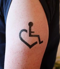 x3 wheelchair adjustable over chair table large heart temporary tattoos by | 3e love's