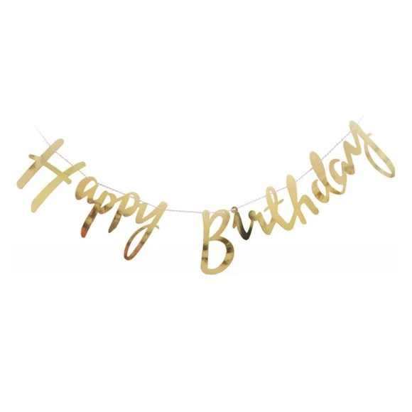 happy birthday banner cursive