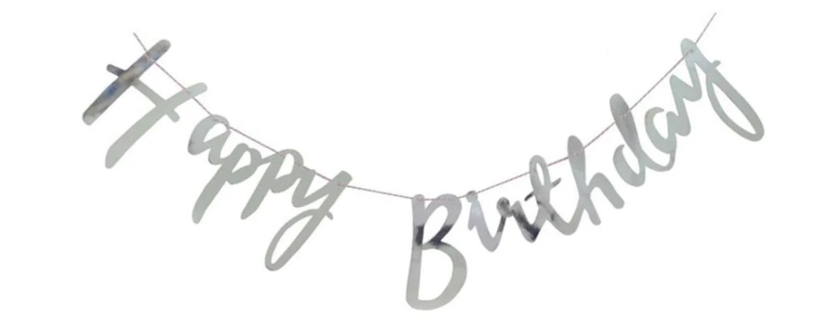 happy birthday banner cursive