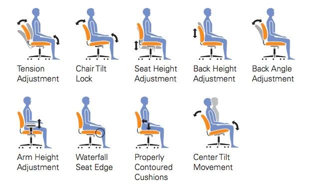 ergonomic chair angle grey computer adjustable otg11631b configuration options joe s discount office furniture