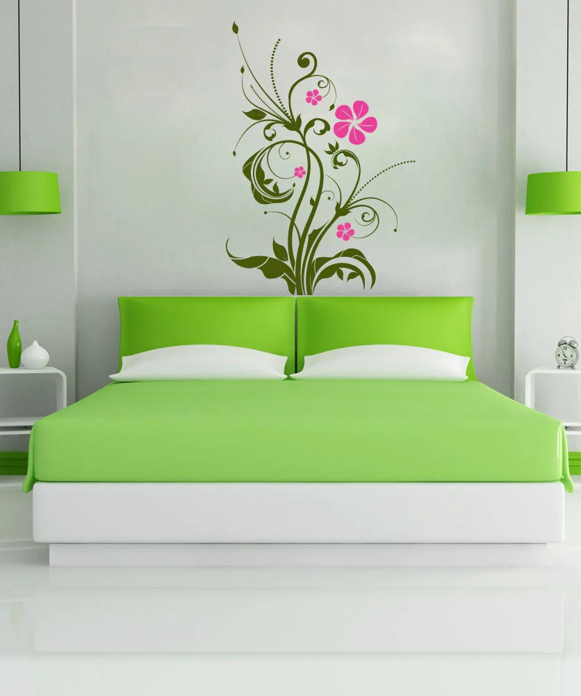 Vinyl Wall Decal Sticker Flower Swirl Plant 1081