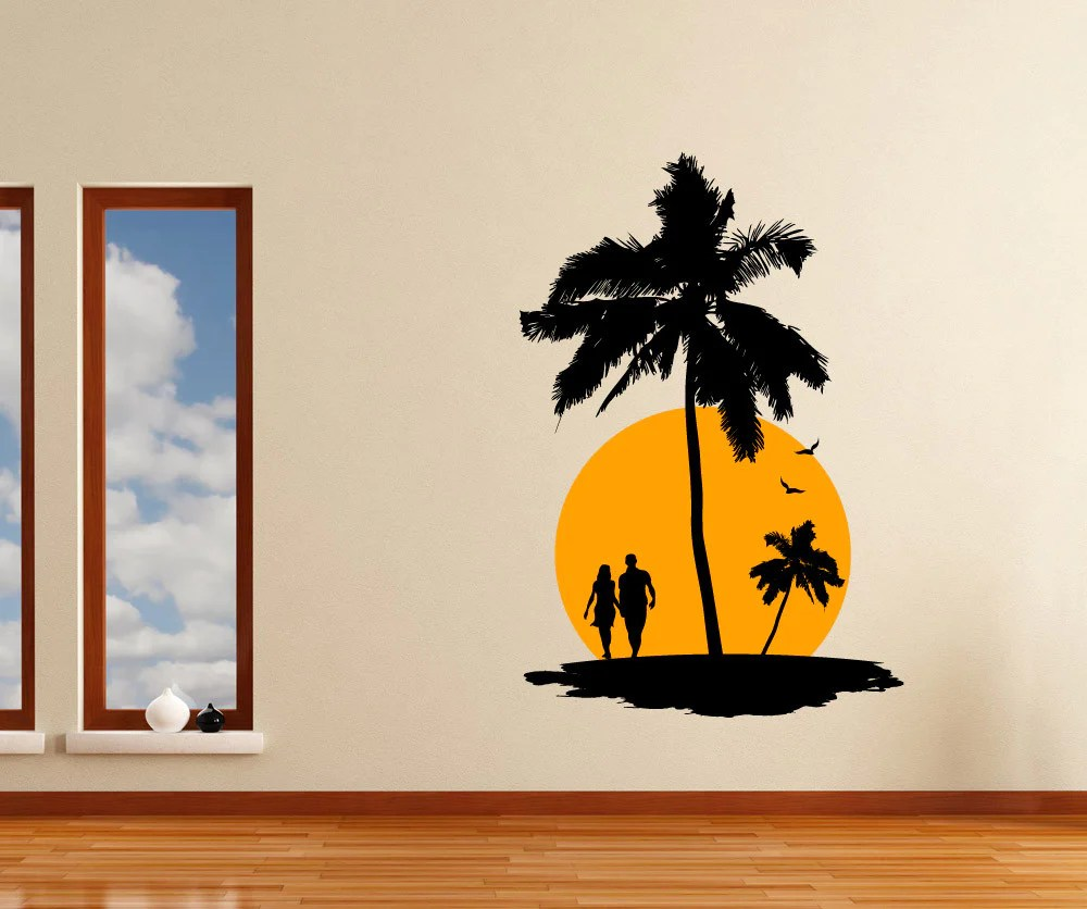Paradise Sunset Wall Decal 1142