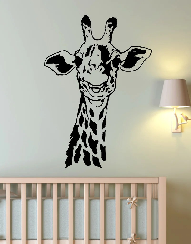 Giraffe Neck Wall Decal Kids Room. Safari Jungle Theme