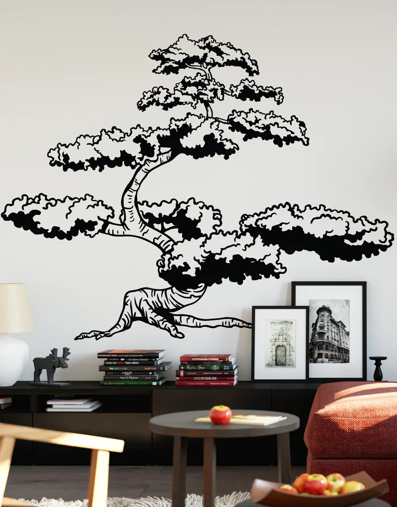 Japanese Bonsai Tree Wall Decal Sticker For Your Asian