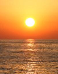Sunset Over Ocean Wall Mural Decal Sticker #6008 ...